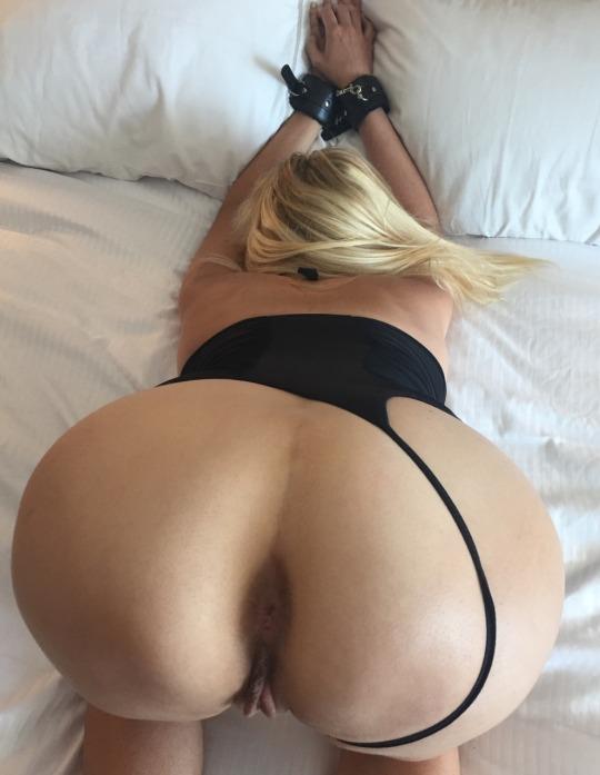 bound blonde ready for cum