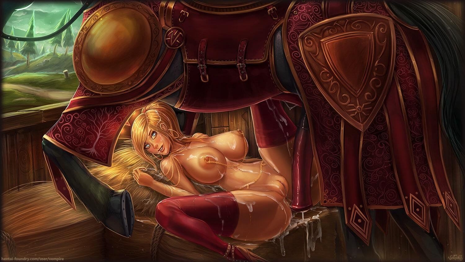 High Ranking Officials Enjoy Showing Off Their Immense Wealth, So They Only Hire The Finest Sluts To Tend To Their Horses [Vempire]