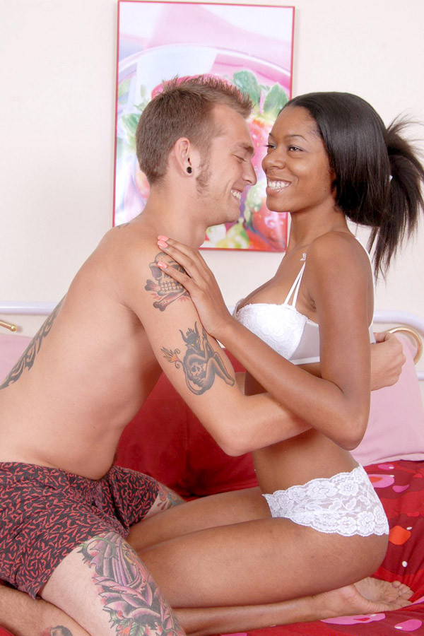 hot black girl riding a cock and takes a cumshot on her chest