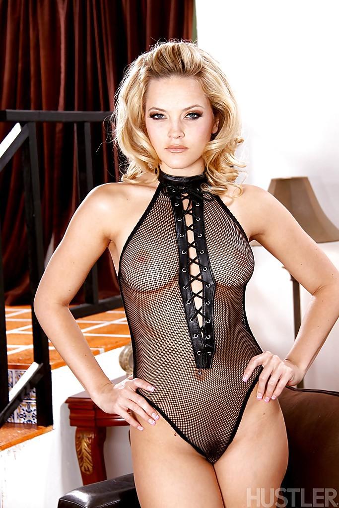 Top pornstar Alexis Texas teasing in see thru lingerie and high heels