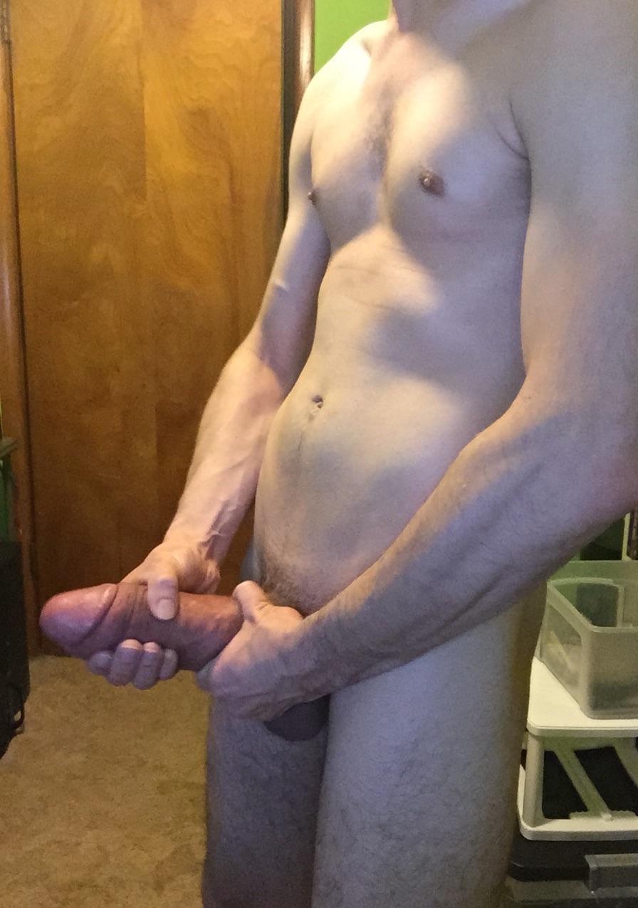 Skinny guy, obese cock