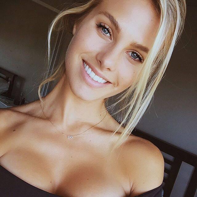 Superb Blonde smiling