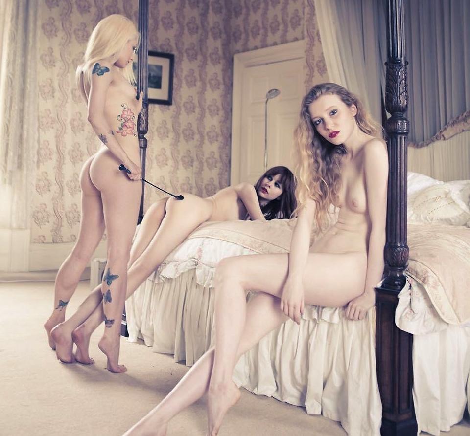 Lesbian BDSM threesome