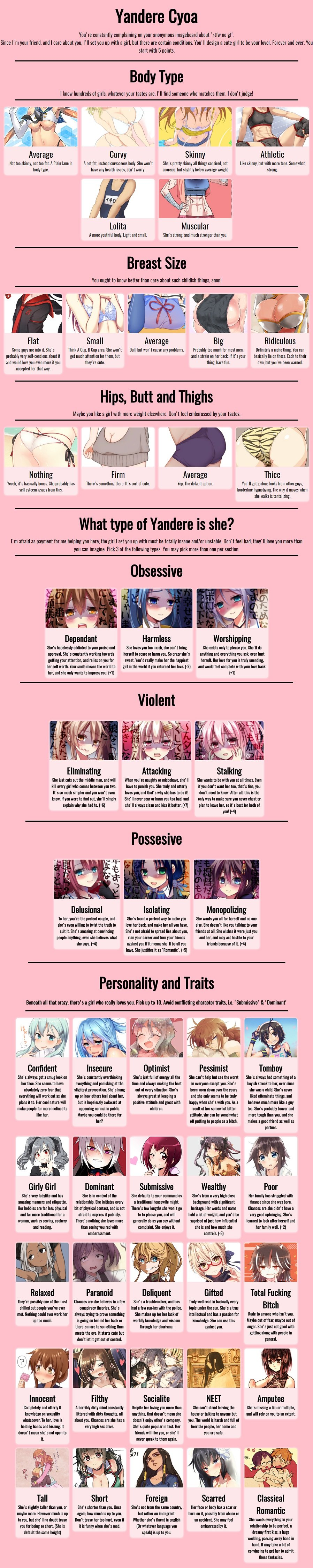 Yandere CYOA (original: https://8ch.net/cyoa/res/2537.html)
