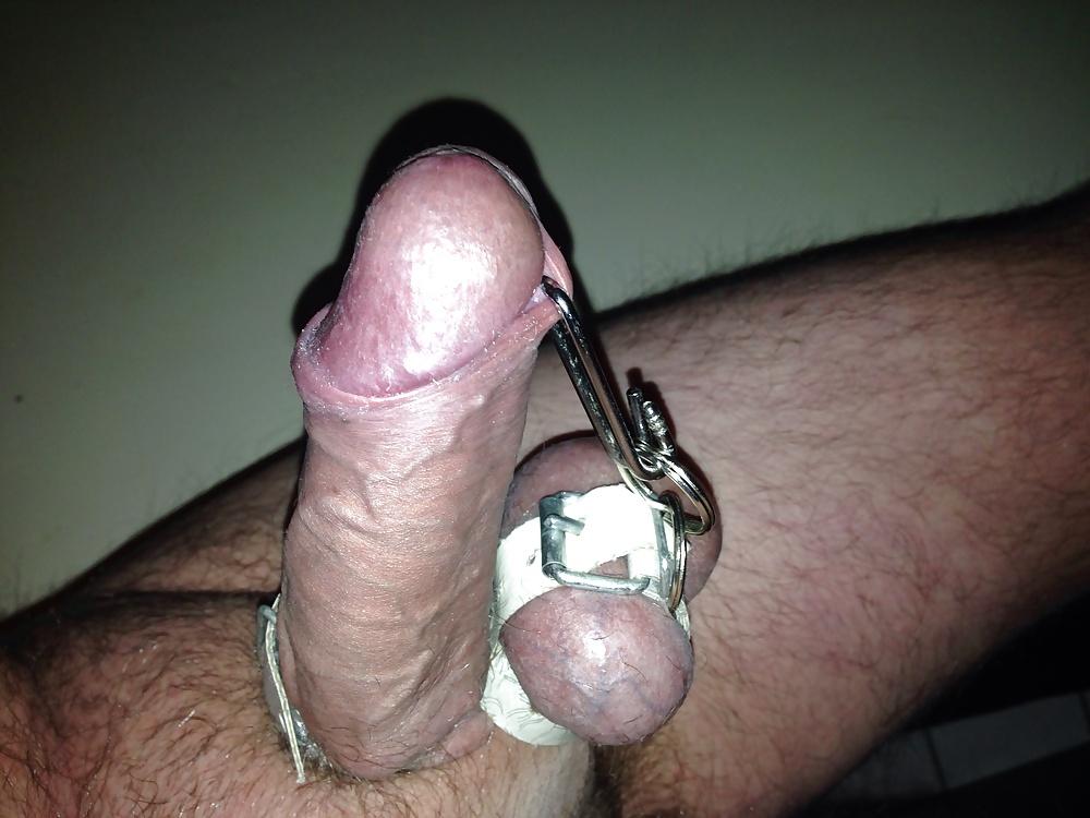 Piercid cock & bound balls