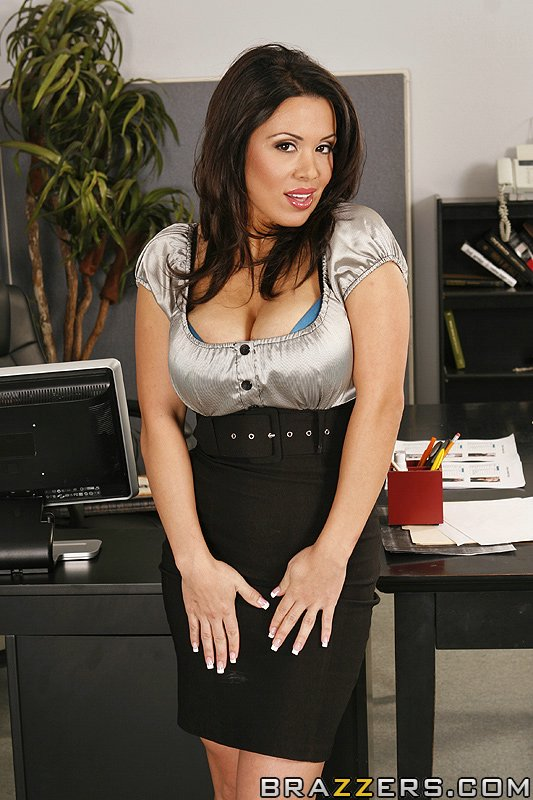Big busted office ladies have some lesbian fun at the work place