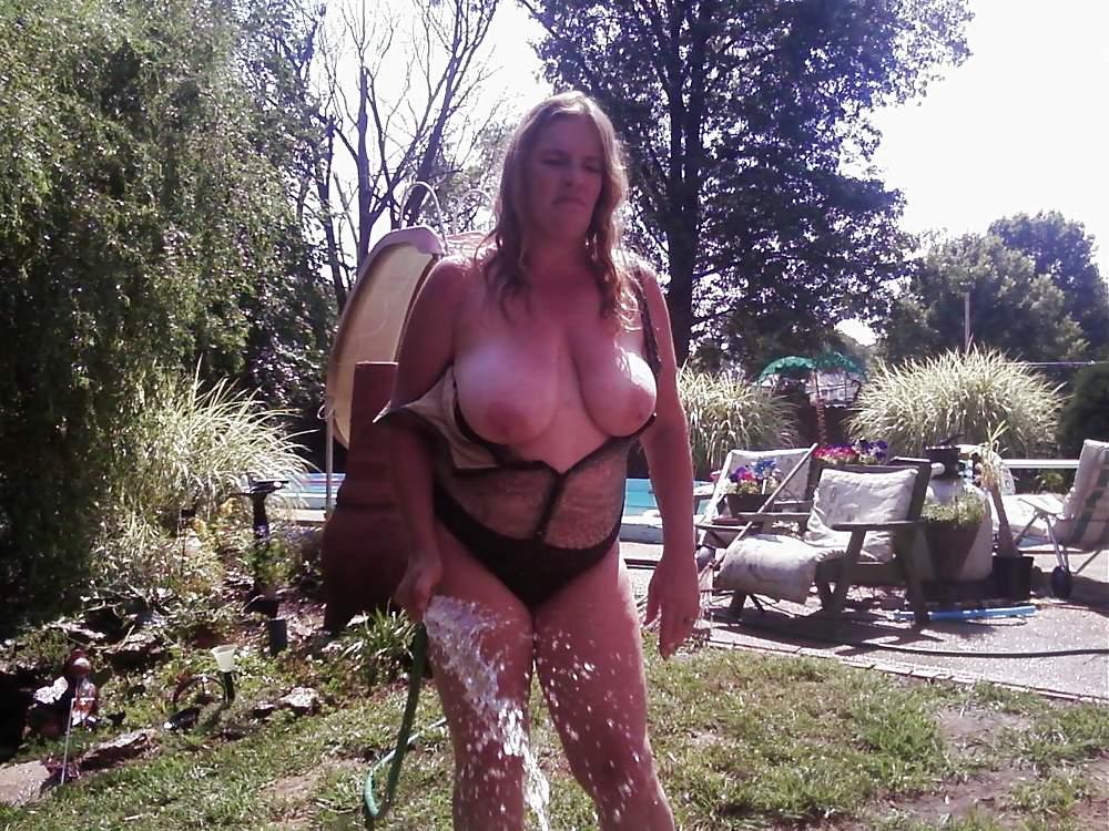Back yard titties