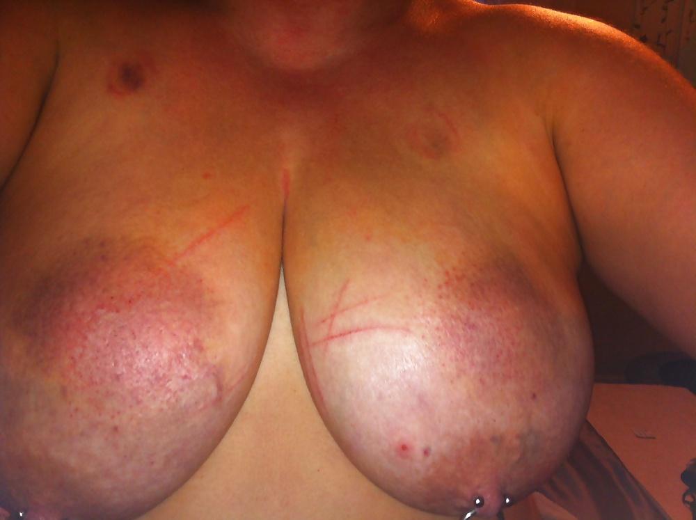 Scottish slut - master beat my tits