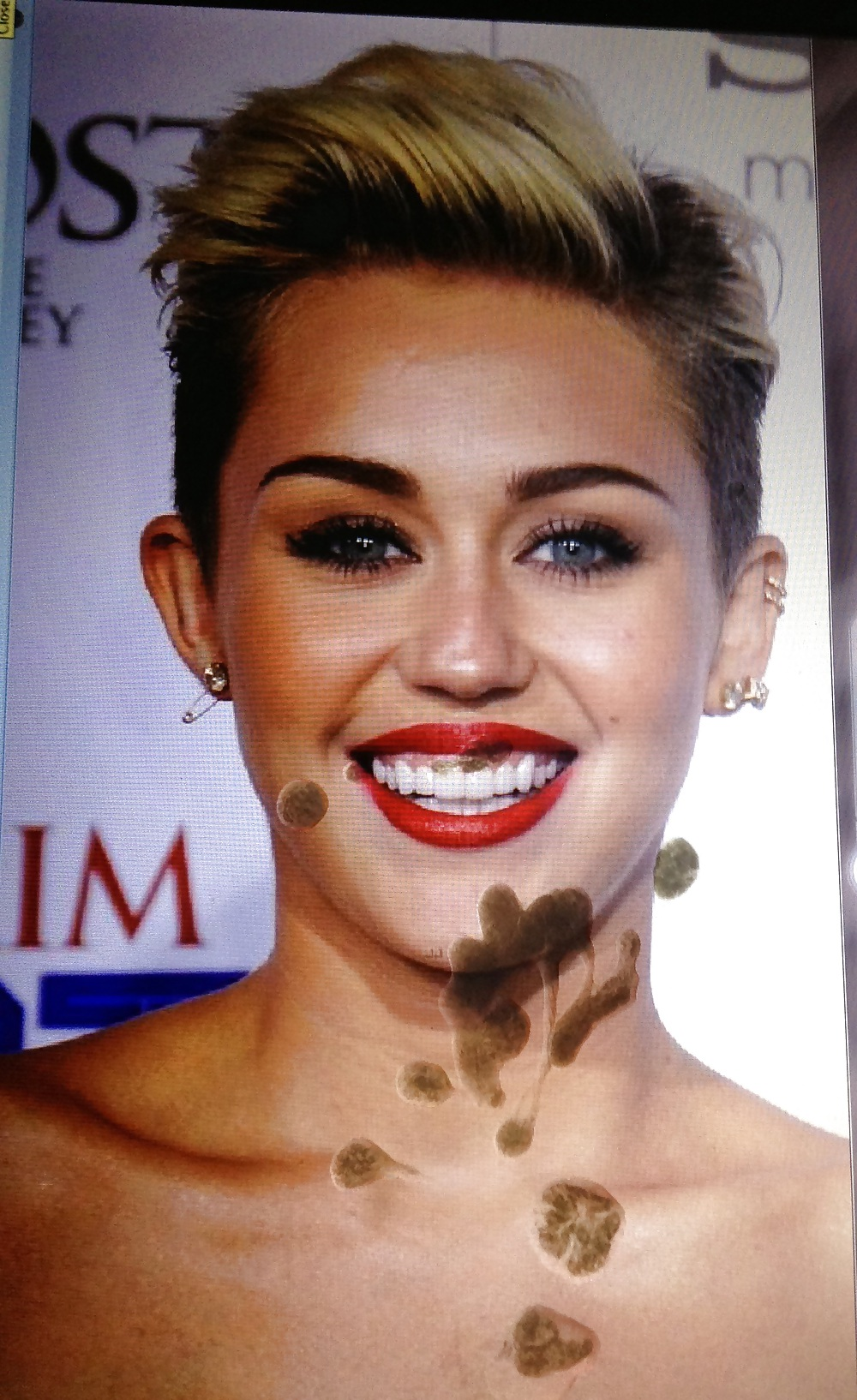 Miley Cyrus Maxim No.1 Cummed