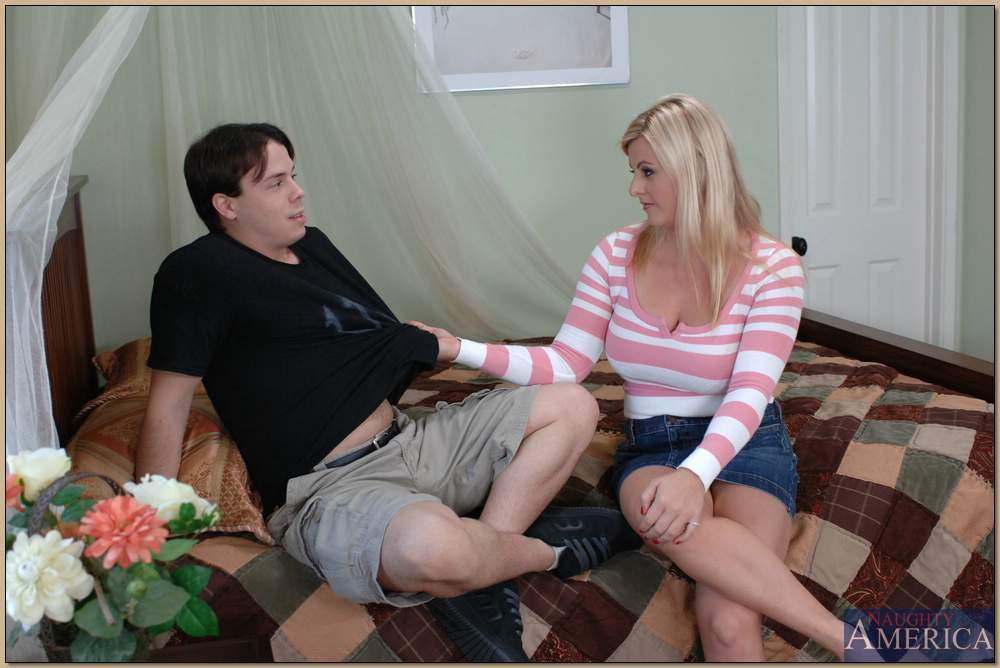 Blond MILF with puffy boobs Kala Prettyman fucked like a dirty whore