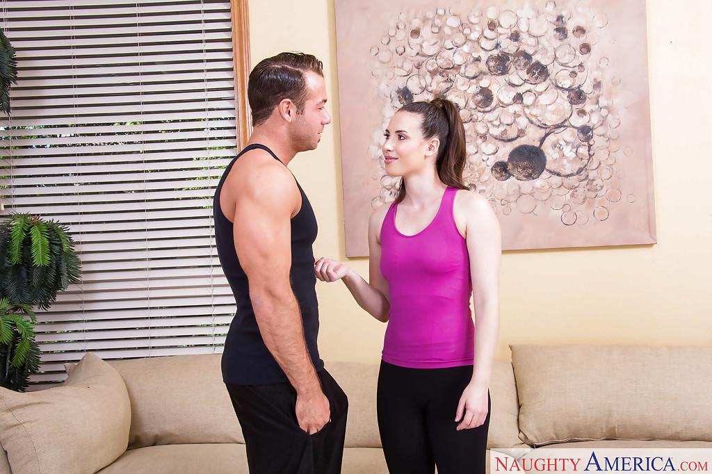 Hot chick Casey Calvert gives her best friend's husband a blowjob
