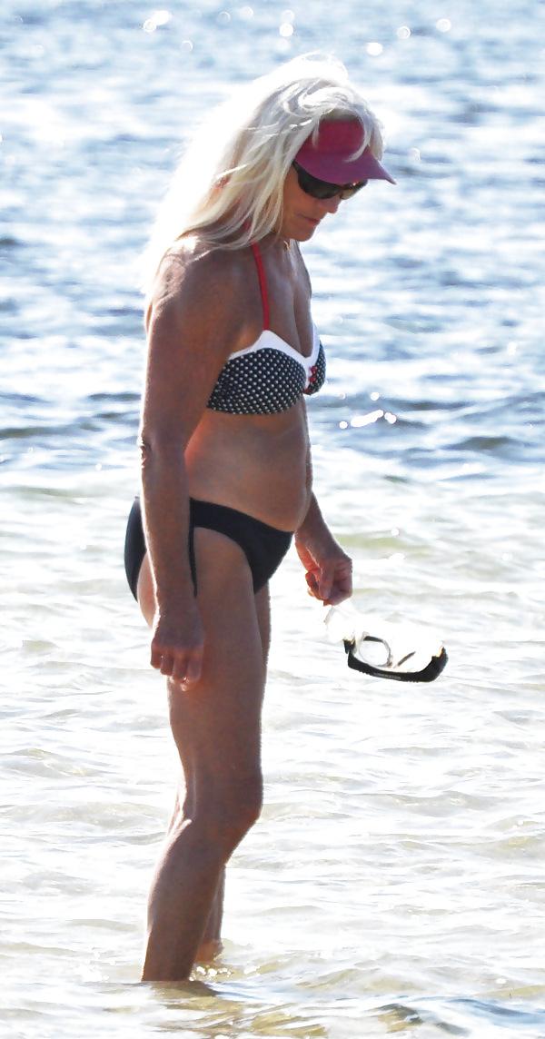 Blonde MILF at Beach