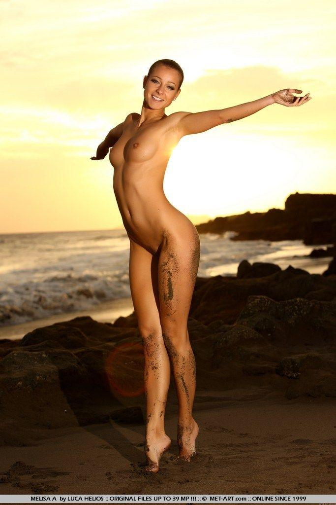 Pictures of Melisa A naked on the beach