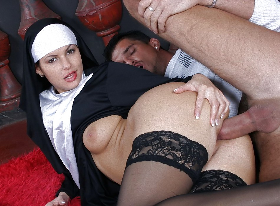 Retro images hardcore fucking busty two horny catholics pleasing dirty nun pussy