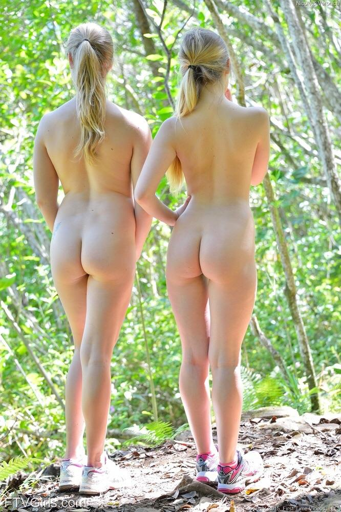 Two sisters in the woods