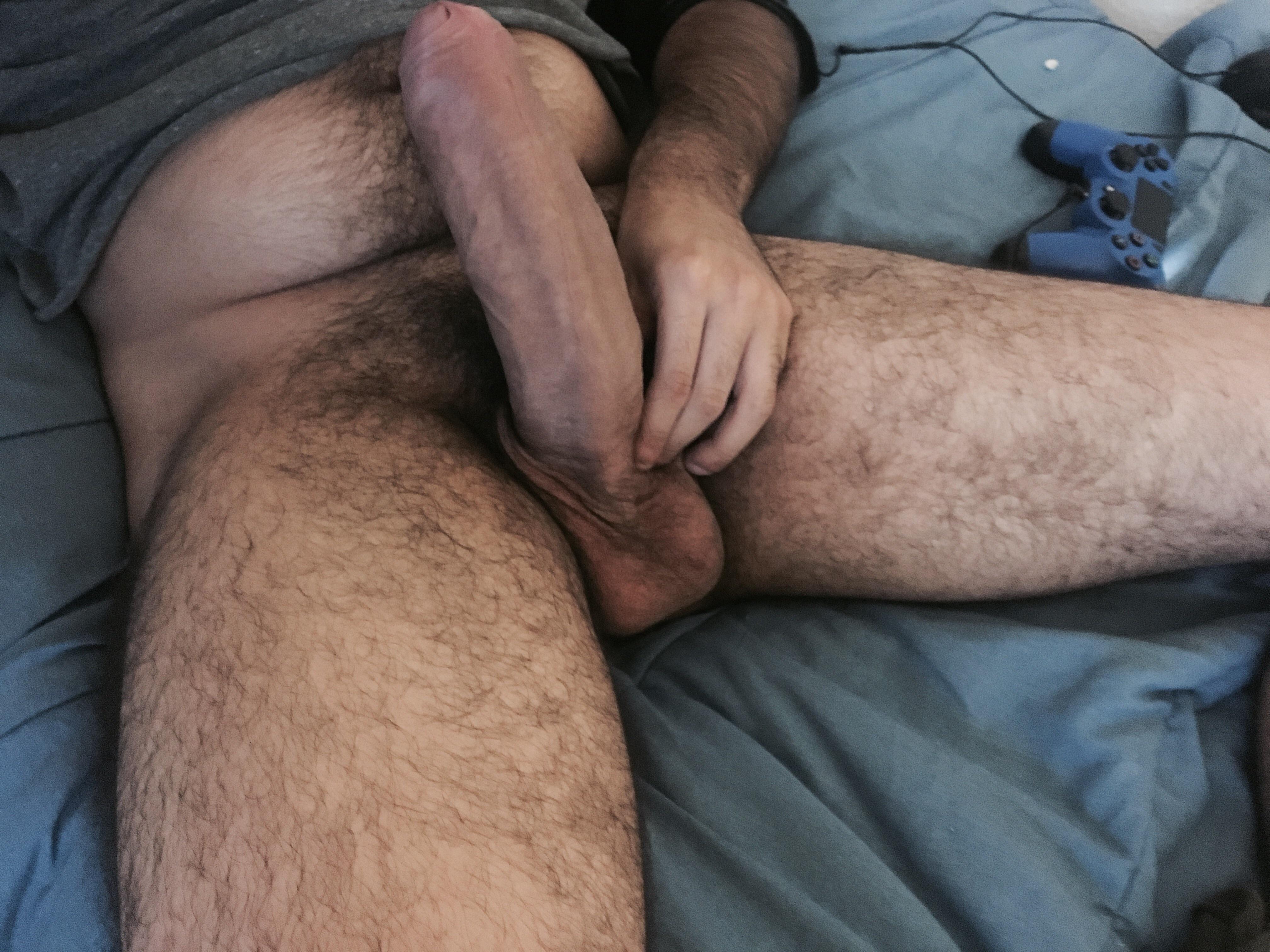 Big hairy dick shemale
